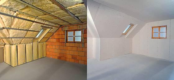 Osazení stěn sádrokartonem
