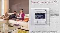Ego-n chytrý vypínač - tlačítkový snímač s LCD