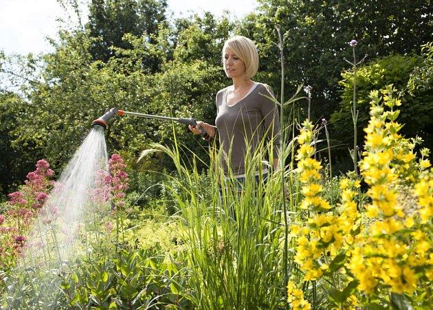 Zavlažování je v horkých letních dnech důležité v okrasné i užitkové zahradě.