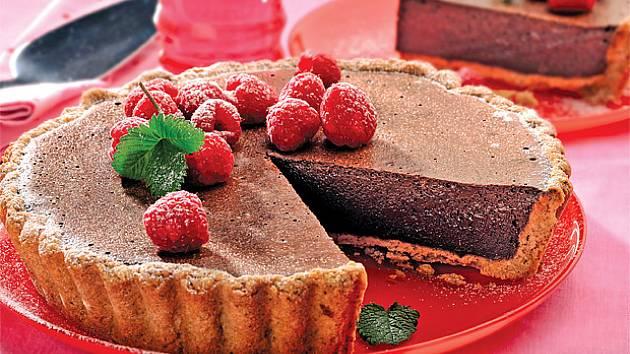 Čokoládový krémový koláč