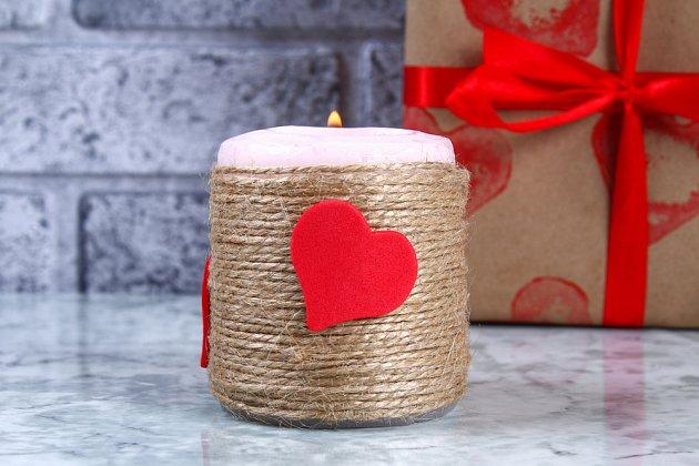 Ozdobená svíčka