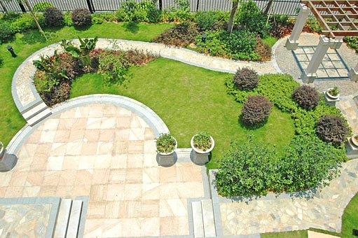 pergola, umístění na zahradě