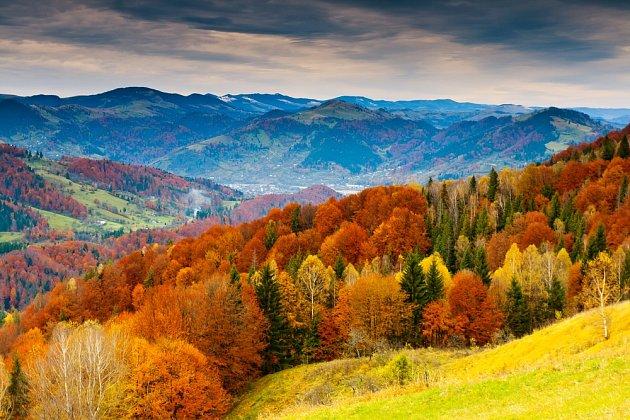Podzimní krajina.