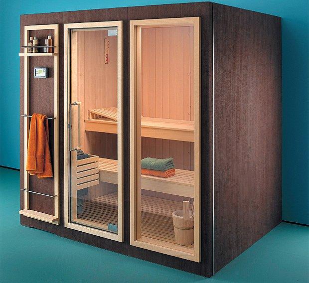 Čím menší je sauna, tím je příjemější prosklení
