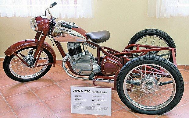 Trojkolka Jawa 250 Pérák–Rikša bez nákladní plochy