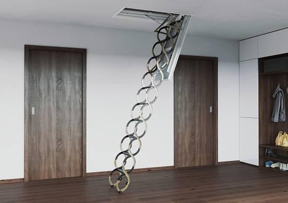 Zateplené schody na půdu