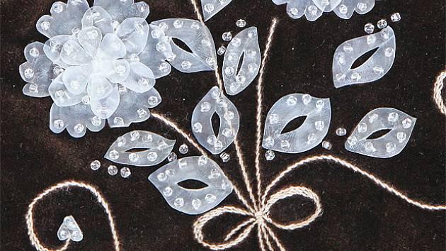 ukázky zdobení perletí