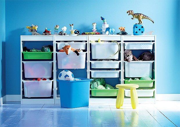 šuplíky v dětském pokoji