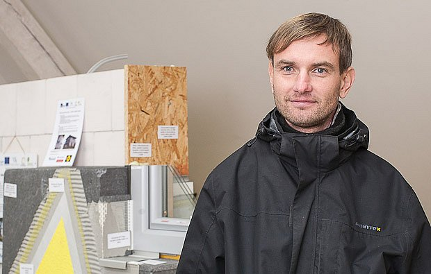 Václav Šváb z poradenského centra Envic, spoluautor stálé výstavy stavebnin