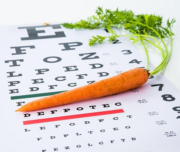 Mrkev skutečně pomáhá zachovat ostrý zrak