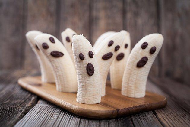 Dobře naservírované banány budou dětem chutnat.