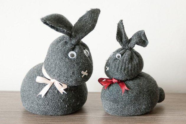 Velikonoční zajíc z ponožky