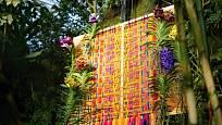 Floristka Klára Franc Vavříková navrhla aranžmá, které přiblíží atmosféru jihoamerického Ekvádoru.