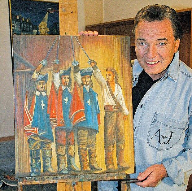 Karel Gott se svým obrazem