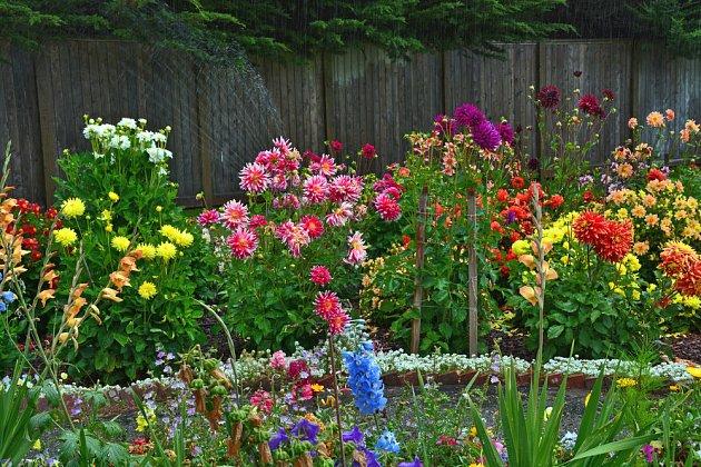 Zahrada může kvést od jara do podzimu