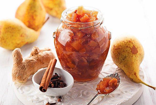 Hrušková marmeláda se zázvorem