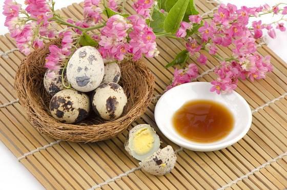 Křepelčí vajíčka jsou delikatesou a dekorací v jednom