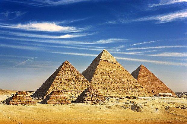 Egyptské pyramidy.