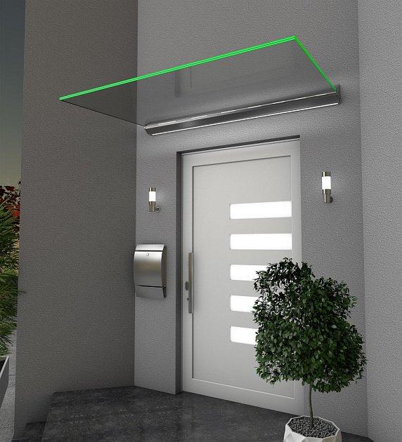 Vchodová stříška Echtglasvordach HD LED