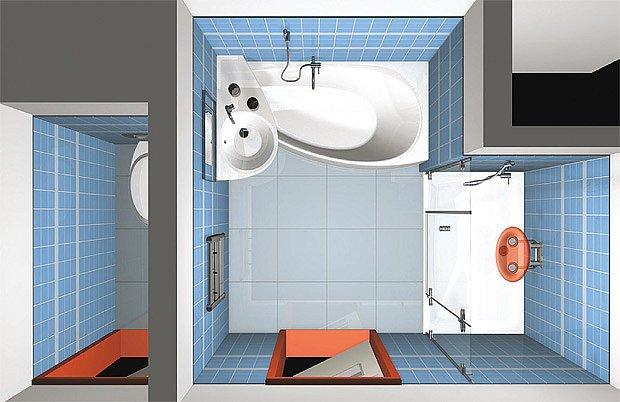 Dispozice s odděleným WC