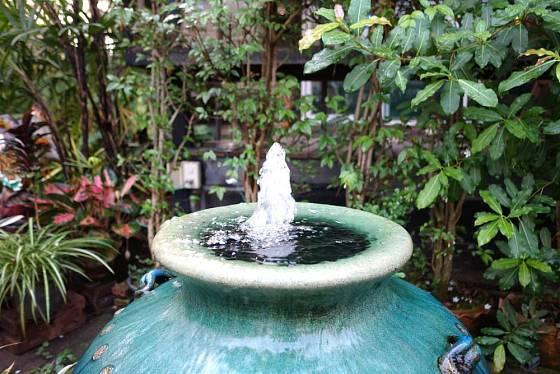 Bublající voda osvěžuje zrak, sluch i vzduch