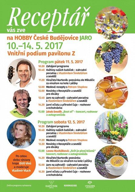 Dny Receptáře na výstavě HOBBY v Českých Budějovicích