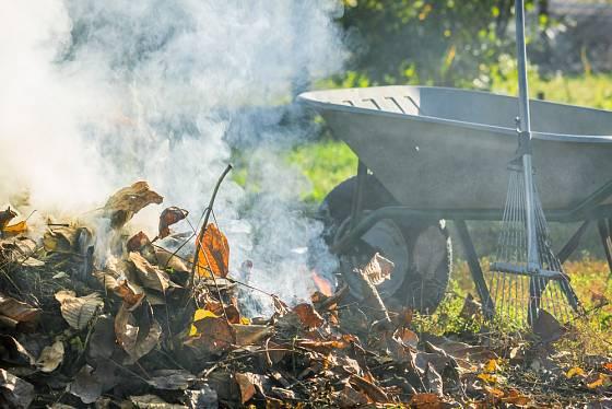 Rostlinný odpad se většinou pálí nebo kompostuje