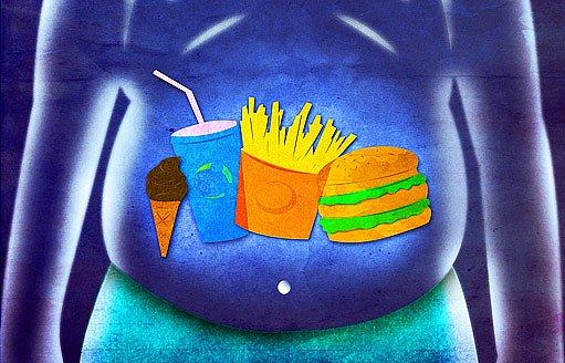těžké jídlo nám v žaludku zůstane déle