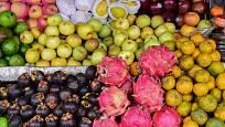 V nabídce exotického ovoce plody pitahaya nepřehlédnete.