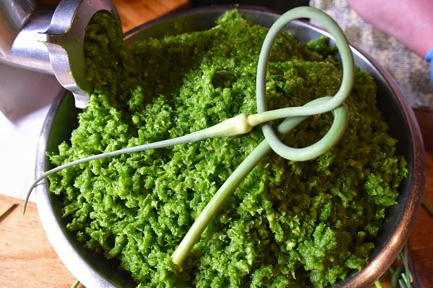 Vyrobte si pesto z česnekových stvolů.