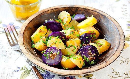 modré brambory