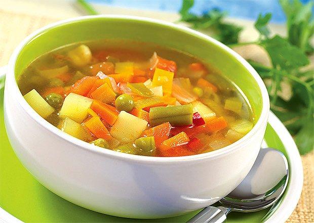 Mrkvová polévka s kysaným zelím