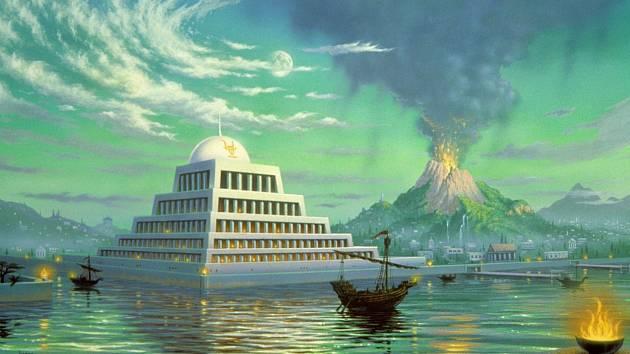 Umělecké ztvárnění Atlantidy
