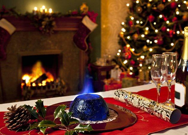vánoční pudink se v Anglii s oblibou zapaluje