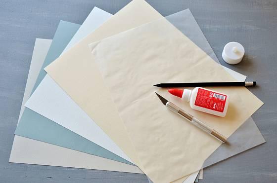 Potřeby pro výrobu papírových domečků