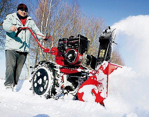 Multifunkční kultivátor se sněžnou frézou