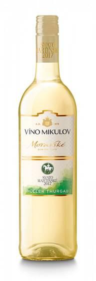 Víno Mikulov, Svatomartinské 2017, Müller Thurgau