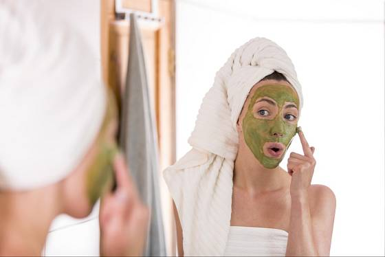 Pleťová maska ze zeleného čaje.
