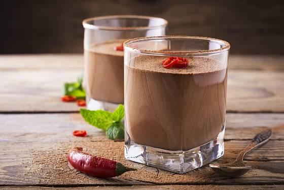 Čokoládová pěna s chilli tvoří delikátní kombinaci