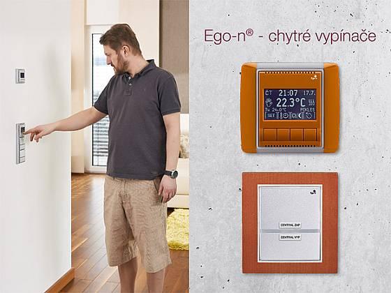 Ego-n - programovatelný termostat a jednonásobný tlačítkový snímač - chytrý vypínač
