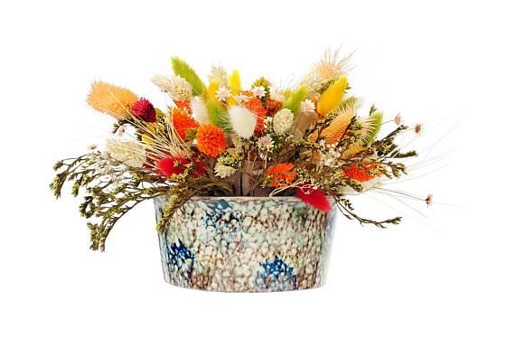 e sušených květin můžeme připravit atraktivní aranžmá.
