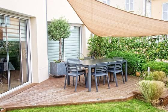 Olivovník jako ozdoba moderní terasy.