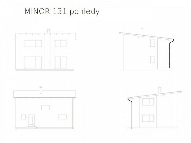 Dřevostavba Minor 131 - pohledy