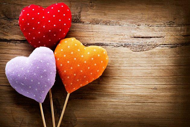 Srdíčka se zápichem využijte například do vázy nebo do kytice.
