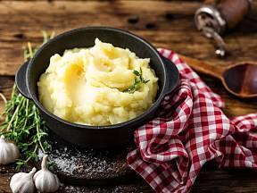 Bramborová kaše bude nejlepší z moučných brambor.