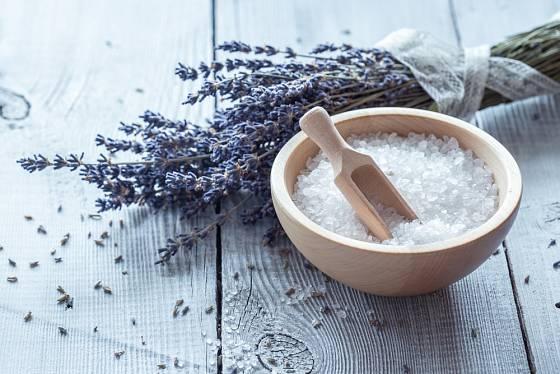 Sůl a levandule, ideální kombinace do koupele