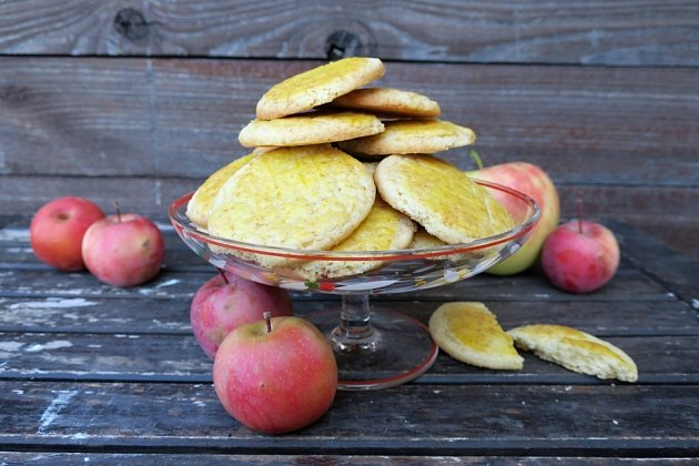 Normandské jablkové galettes