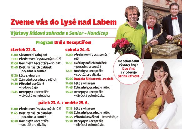 Program Receptáře na výstavišti v Lysé nad Labem