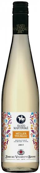 Zámecké vinařství Bzenec, Svatomartinské 2017, Müller Thurgau
