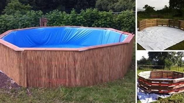 Bazén z palet není nic obtížného ani drahého